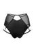 Hamade Activewear High Waisted Mesh Garter Bottoms - Black-Hamade Activewear-Pole Junkie