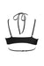 Hamade Activewear Strappy Halter Neck Top - Black-Hamade Activewear-Pole Junkie