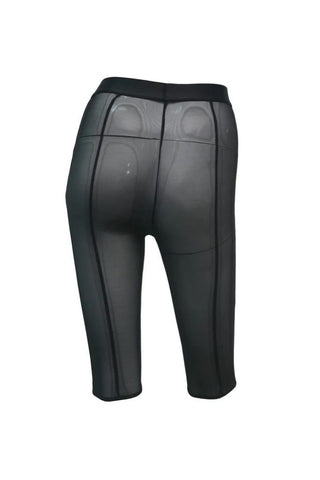 Mesh High Waisted Cycling Shorts - Black-Hamade Activewear-Pole Junkie