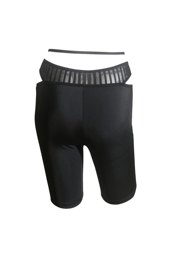 Hamade Activewear O-Ring Cycling Shorts - Black-Hamade Activewear-Pole Junkie