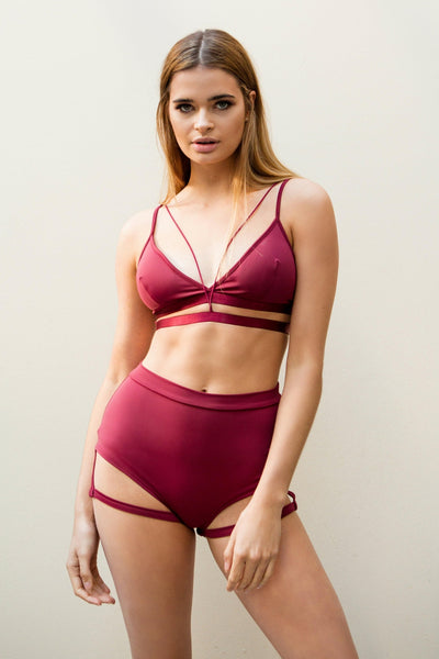 Bella Top - Wine-Luna Pole Wear-Pole Junkie