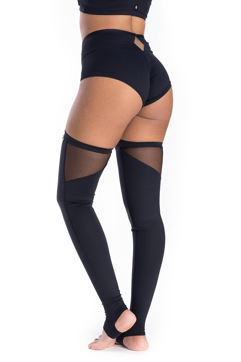 Poledancerka Thigh High Leg Warmers - Black-Poledancerka-Pole Junkie
