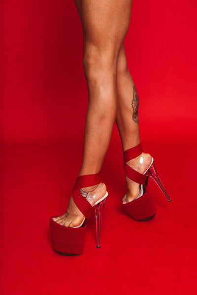 Red Ankle Cuff-Rolling-Pole Junkie
