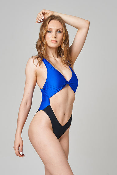 Shark Polewear Benita Bodysuit - Royal Blue/Black-Shark Polewear-Pole Junkie