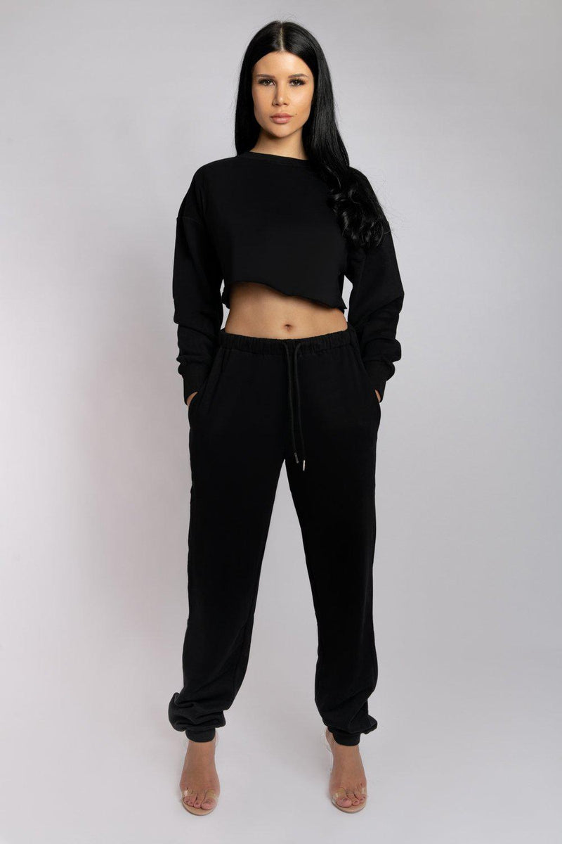 Creatures of XIX Oversized Cropped Jumper - Black-Creatures of XIX-Pole Junkie