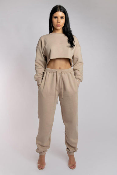 Creatures of XIX Oversized Jogger Bottoms - Fawn-Creatures of XIX-Pole Junkie