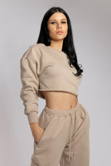 Creatures of XIX Oversized Cropped Jumper - Fawn-Creatures of XIX-Pole Junkie