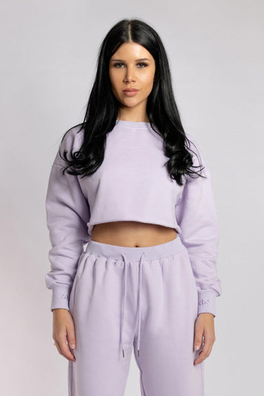 Creatures of XIX Oversized Cropped Jumper - Lilac-Creatures of XIX-Pole Junkie