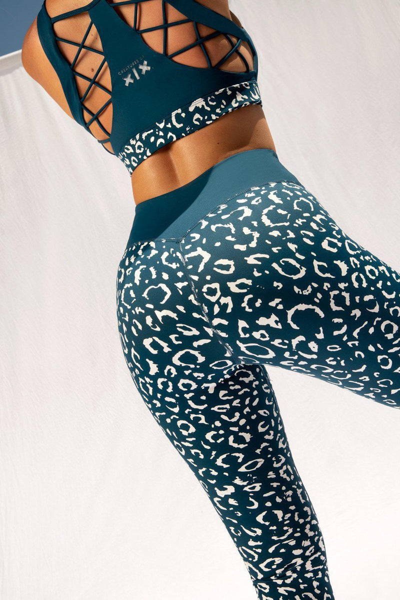 Creatures of XIX Gecko Grip Leggings - Twilight Leopard-Creatures of XIX-Pole Junkie