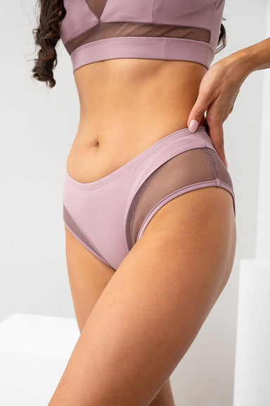 Lunalae Midnight Low Waisted Bottoms - Recycled Mauve-Lunalae-Pole Junkie