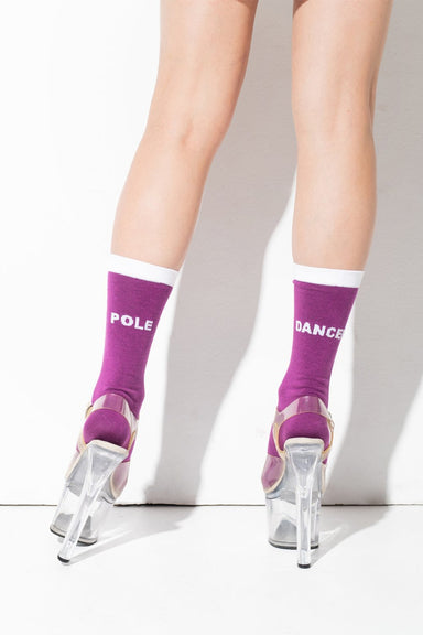 RAD Pole Dancer Socks - Purple-RAD-Pole Junkie