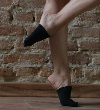 Rolling Contemporary Dance Socks - Black-Rolling-Pole Junkie