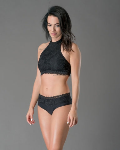Lace Edition Lisette Top - Black-Dragonfly-Pole Junkie