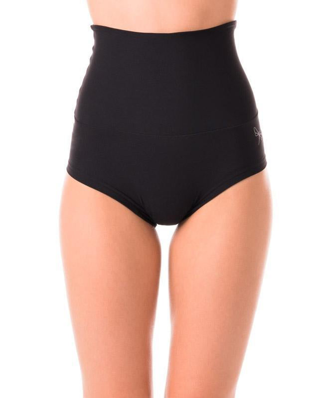 Dragonfly Betty High-Waisted Shorts - Black-Dragonfly-Pole Junkie