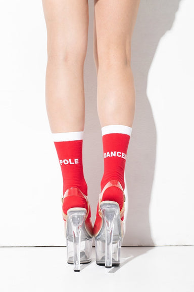 RAD Pole Dancer Socks - Red-RAD-Pole Junkie