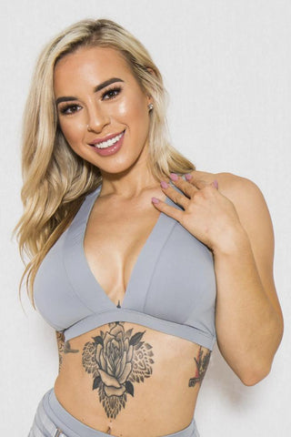 Isla Top - Ice Blue-Tatiana Activewear-Pole Junkie