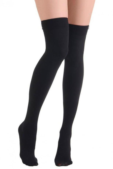 Lunalae Thigh High Socks - Black-Lunalae-Pole Junkie