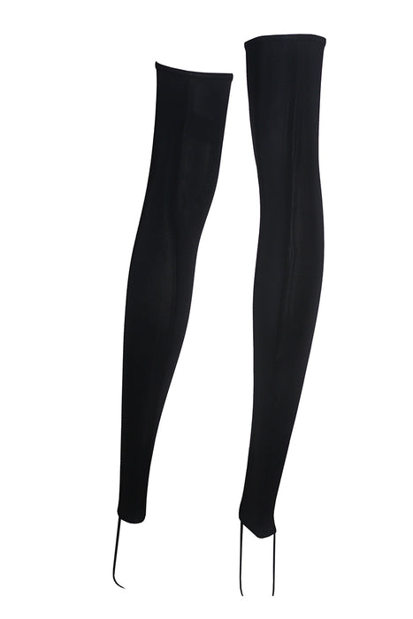 Lace-up Thigh High Legwarmers-Hamade Activewear-Pole Junkie