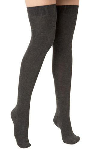 Lunalae Thigh High Socks - Charcoal-Lunalae-Pole Junkie