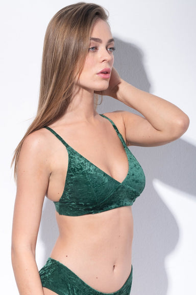 Monica Velvet Top - Green-RAD-Pole Junkie