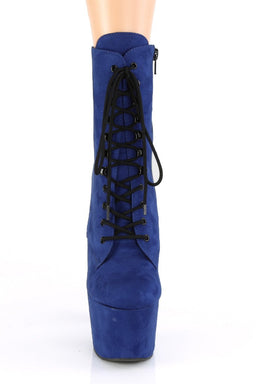 Pleaser USA Adore-1020FS Faux Suede 7Inch Pleaser Boots - Royal Blue-Pleaser USA-Pole Junkie