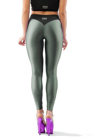 V-String Leggings - Army Green-Paradise Chick-Pole Junkie