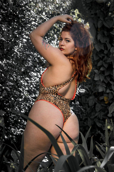 Sorte Anturio Bodysuit - Reversible Leopard/Orange-Sorte-Pole Junkie