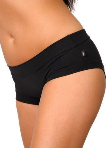 Essential Hot Pants - Black-Cleo the Hurricane-Pole Junkie