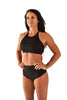 Embossed Sports Bra - Black-Off The Pole-Pole Junkie