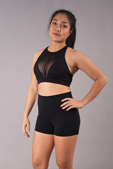 Off The Pole Mesh Sports Bra - Black-Off The Pole-Pole Junkie