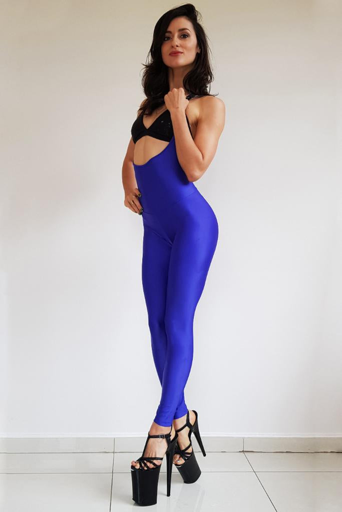 Second Skin Sling Leggings - Blue-Sorte-Pole Junkie