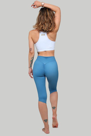 Capri Leggings - Steel Blue-Creatures of XIX-Pole Junkie