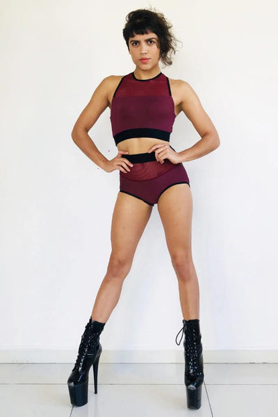 Strong Shorts - Burgundy-Sorte-Pole Junkie