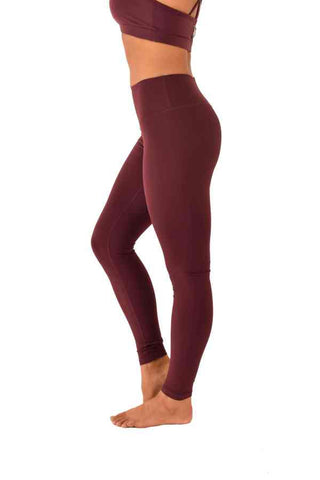 Lifestyle Leggings - Burgundy-Off The Pole-Pole Junkie