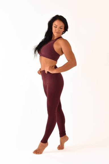 Off The Pole Lifestyle Leggings - Burgundy-Off The Pole-Pole Junkie