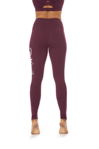 Signature Leggings - Burgundy-Off The Pole-Pole Junkie