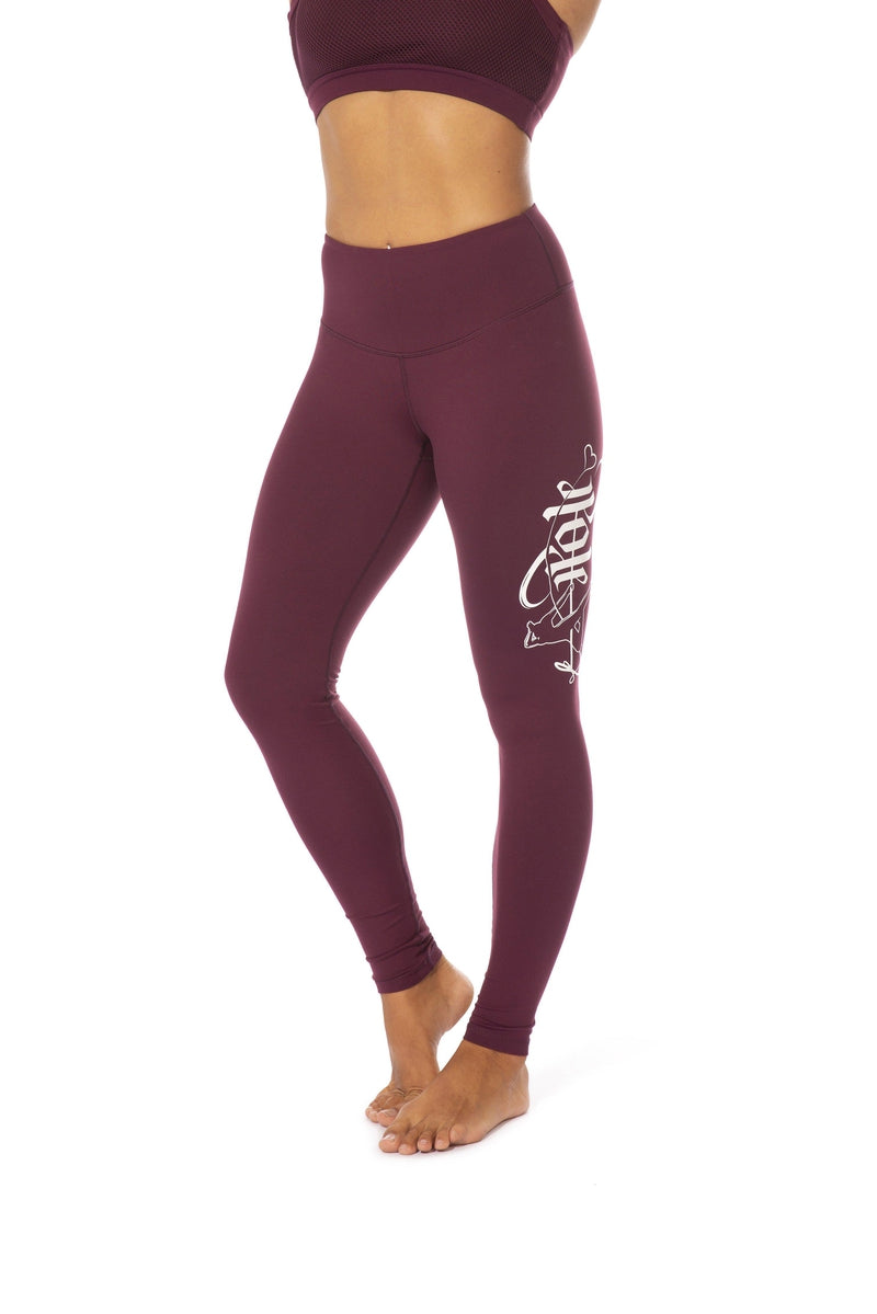 Off The Pole Signature Leggings - Burgundy-Off The Pole-Pole Junkie