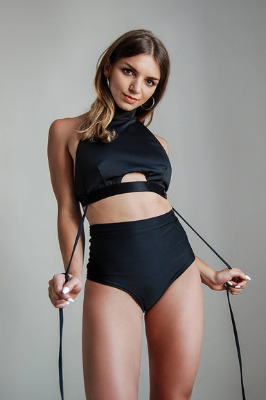 Pole Addict Choker Top - Black-Pole Addict-Pole Junkie