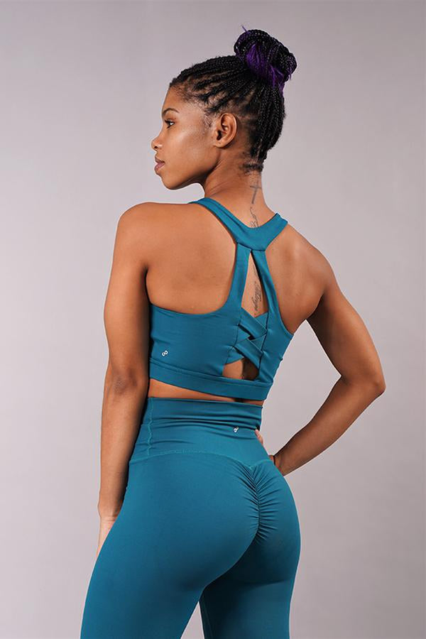 Off The Pole Classic Sports Bra - Deep Sea-Off The Pole-Pole Junkie