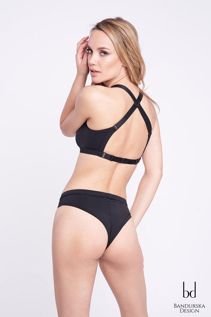 Classic High Cut Bottoms - Black-Bandurska-Pole Junkie