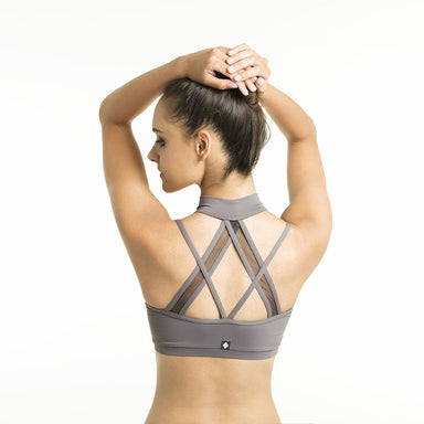 Poledancerka X Back Top - Grey-Poledancerka-Pole Junkie