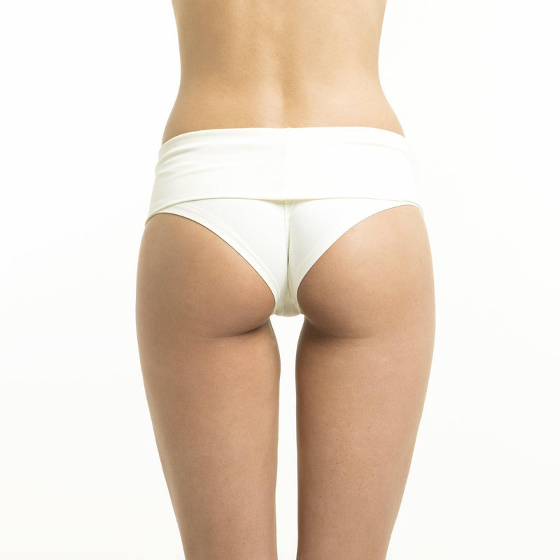Poledancerka High-Low Brazil Shorts - Ivory-Poledancerka-Pole Junkie