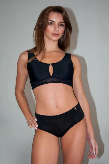 Lena Basic Hot Pants - Black-Pole Addict-Pole Junkie