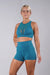 Off The Pole Mesh Sports Bra - Deep Sea-Off The Pole-Pole Junkie