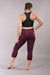 Off The Pole Cropped Lifestyle Leggings - Burgundy-Off The Pole-Pole Junkie