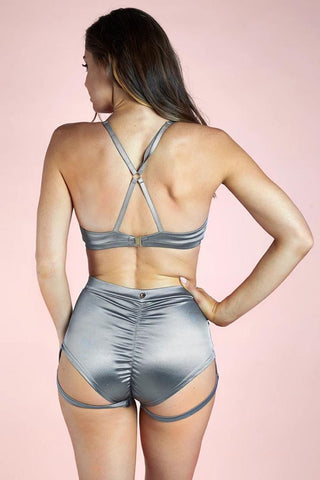 Lucia Top - Silver-Luna Pole Wear-Pole Junkie