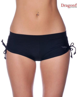 Dragonfly Emily Shorts - Black-Dragonfly-Pole Junkie