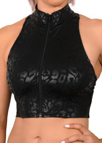Fierce Cheetah Zip-Up Vest-Cleo the Hurricane-Pole Junkie
