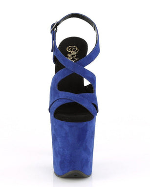 Pleaser USA Flamingo-831 Faux Suede 8inch Pleasers - Royal Blue-Pleaser USA-Pole Junkie