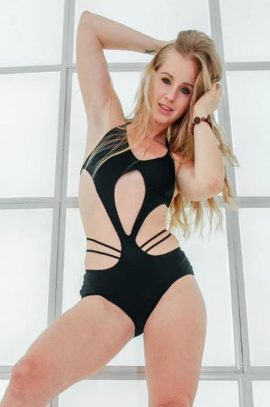 Shark Polewear Fly Bodysuit - Black-Shark Polewear-Pole Junkie